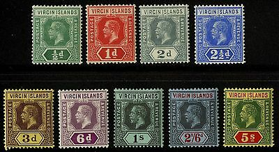 Virgin Islands  1913  Scott # 38-46  MLH Set