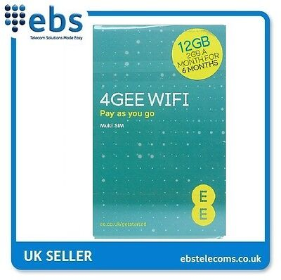 EE PAYG 4G Data Sim Card Preloaded With 12GB - 2GB A Month For 6 Months