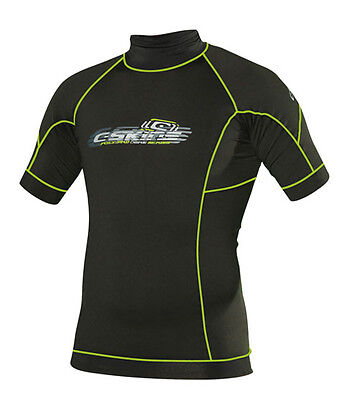 C-Skins PolyPro  Youth Thermal Rash Vest in Black & Green - On Sale Now