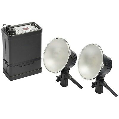 400ws Traveler Battery 2-Head Flash System Kit
