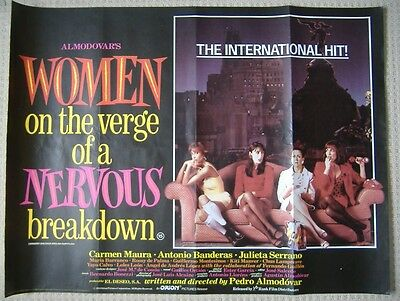 Women on the Verge of a Nervous Breakdown (1988) Original UK Quad Movie Poster