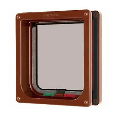 CAT MATE BROWN 4-Way Lock Cat Pet Flap + Liner 235 b
