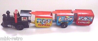 Old Vintage Tin Toy Antique 1950-60 Stretched Train  Made in Japan