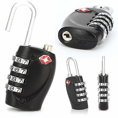 2 x TSA 4-Dial Security Combination Travel Suitcase Luggage Bag Code Lock