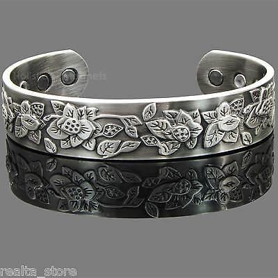 Womens Copper Magnetic Bracelet Health Bangle for Holistic Arthritis Therapy-EFP