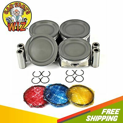 Pistons and Rings Fits 99-02 Ford Cougar 2.5L V6 DOHC 24v DURATEC Cu.155 VIN G L