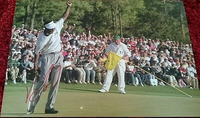 "Vijay Singh signed 12x8"" masters championship golf photo / the open / COA"