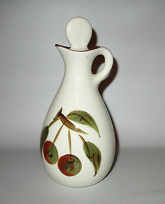 Stangl Orchard Song Oil Cruet Jar Dura Fired Fruit 1960s - 70s USA Pottery