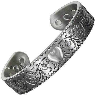 Ladies Copper Magnetic Bracelet Pewter-plated Tarnish-Free Copper Bangle - PH