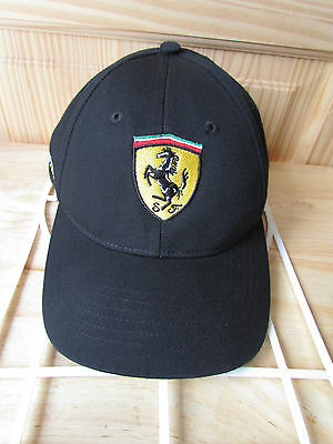 Ferrari Official Licensed Product Black Embroidered Adjustable Driving Hat Euc!