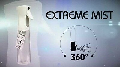 Sibel Extreme Mist 360° Atomizer Bottle Hair Tools Black/white Water Spray 300Ml