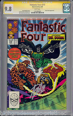 Fantastic Four #318 Cgc 9.8 Stan Lee Ss Single Highest Graded Cgc #11191285004