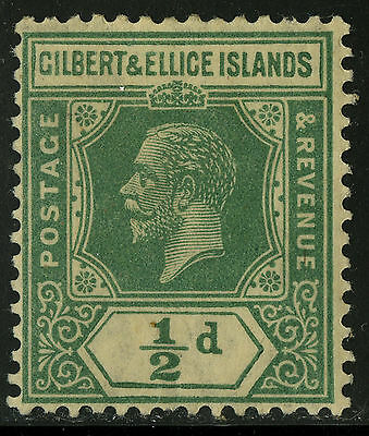 Gilbert & Ellice Islands   1921-27   Scott # 27   Mint  Hinged