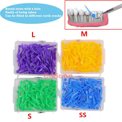 FDA CE 400pcs Dental Plastic Poly-wedges with Dental holes 4 colors 4 sizes/set
