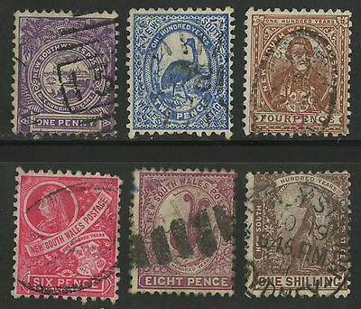 New South Wales   1888-89   Scott # 77-82   USED Set