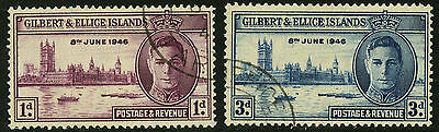 Gilbert & Ellice Islands   1946   Scott # 52-53   USED Set