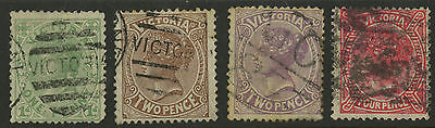 Victoria   1880-84   Scott #  141-145     USED Part Set