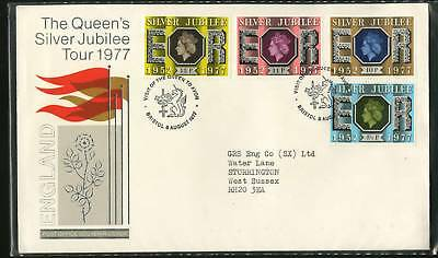 Great Britain 1977  Jubilee Tour FDC Set of 21 covers