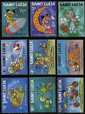 St Lucia   1980   Scott # 491-499   MNH Set