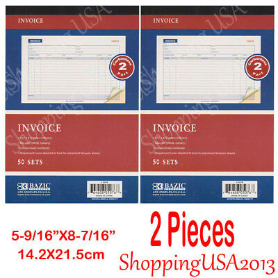 2 Pcs Invoice Sale Order Books List Money Record 50 Sets 2 Parts Carbonless