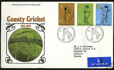 Great Britain 1973  Scott #694-696  FDC