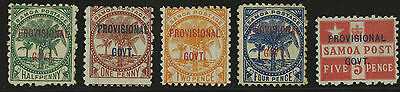 Samoa   1899   Scott #31-35   Mint Hinged Set