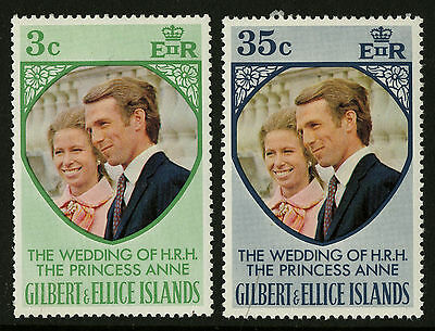 Gilbert & Ellice Islands   1973   Scott # 216-217    Mint Never Hinged Set