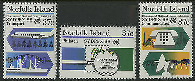 Norfolk Island   1988   Scott # 437-439    Mint Never Hinged Set
