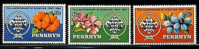 Penryhn Island  1983  Scott # 219-221  Mint Never Hinged  Set