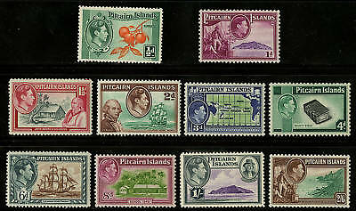 Pitcairn Islands  1940-51  Scott # 1-8  MLH Set