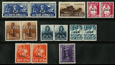 South West Africa   1938  Scott #135-143   Mint Very Lightly Hinged Set