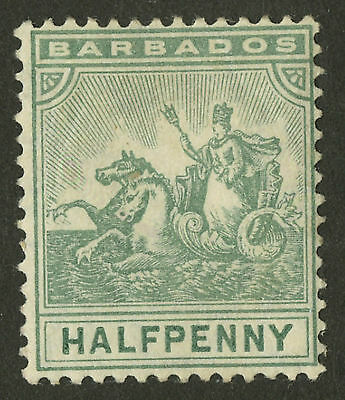 Barbados  1904-10  Scott #92    MH