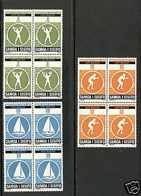 Samoa 1969  Scott # 312-314  MNH Block Set