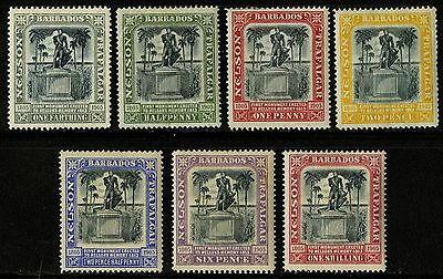 Barbados   1906   Scott #102-108   MH Set