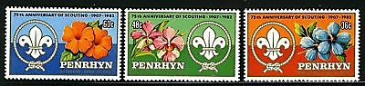 Penryhn Island  1983  Scott # 215-217  Mint Never Hinged Set