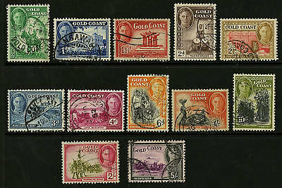 Gold Coast  1948  Scott # 130-141  USED Set
