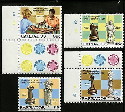 Barbados   1984   Scott #632-635   MNH Set