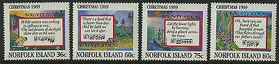 Norfolk Islands   1989   Scott # 462-465    Mint Never Hinged Set