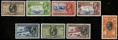 Cayman Islands   1935-36    Scott # 85-92   MH-MLH  Part Set