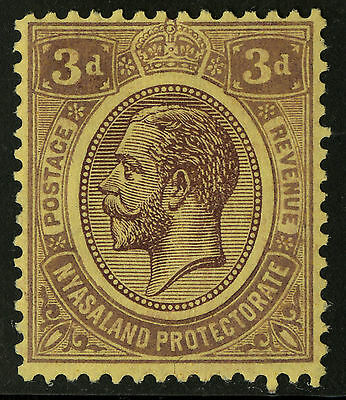 Nyasaland  1921-30   Scott # 29   Mint Lightly Hinged