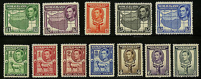 Somaliland Protectorate   1938  Scott # 84-95   Mint Very Lightly Hinged Set