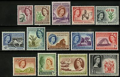 Southern Rhodesia  1959-63   Scott # 81-94   Mint Lightly Hinged Set