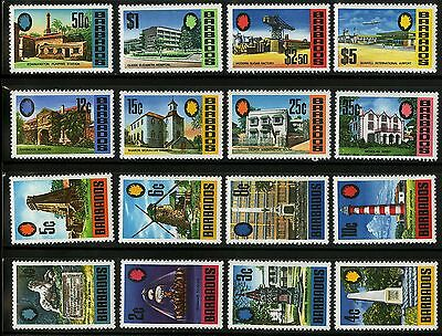Barbados   1970   Scott #328-343   MLH - MNH Set