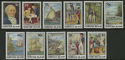 Norfolk Islands   1987-88   Scott # 426-436    Mint Never Hinged Set