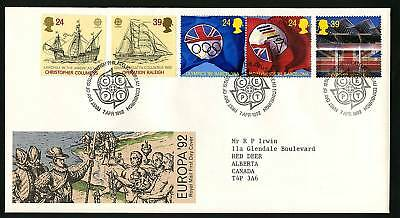 Great Britain 1992  Scott # 1449-1453  FDC