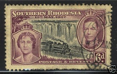 Southern Rhodesia  1937  Scott # 41  USED