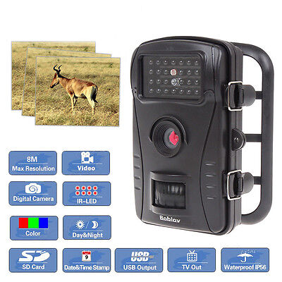 Digital Hunting Game Trail Video Camera Scouting Infrared Night Vision FHD 8MP