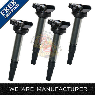 New SET OF 4 IGNITION COIL  FOR VARIOUS VEHICLES C1714 1.8L L4 UF-619 UF-596