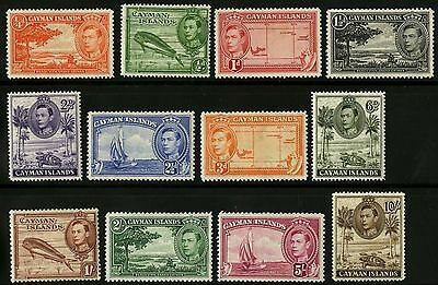 Cayman Islands   1938-43   Scott # 100-111  Mint Lightly Hinged Set