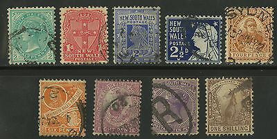 New South Wales   1905-06   Scott # 109-118   USED Part Set